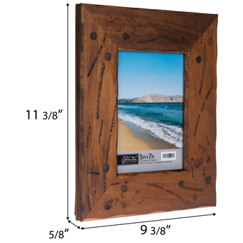 Distressed & Nailed Wood Photo Frame