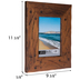 Distressed & Nailed Wood Wall Frame - 5