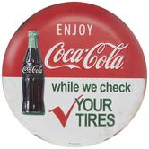 Enjoy Coco-Cola Round Metal Sign