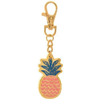 Pink Pineapple Keychain