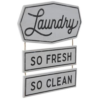 Fresh & Clean Laundry Wood Wall Decor