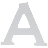 """White Wood Letter A - 2 1/2"""""""