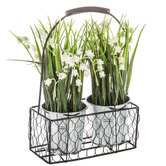 Lily Of The Valley In Metal Basket