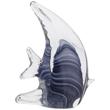 Blue Marble Glass Fish