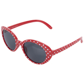 Red & White Polka Dots Kids Sunglasses
