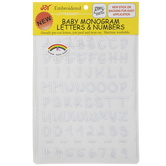 White Baby Letter & Number Iron-On Appliques