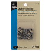 """Silver Double-Cap Rivets - 5/16"""""""