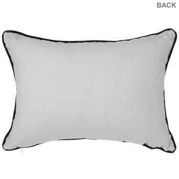 White & Black Crocodile Print Pillow