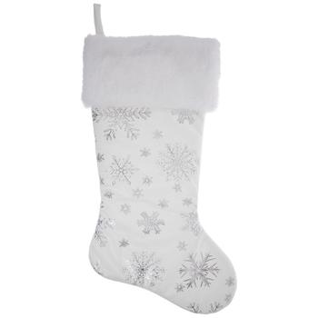 White Snowflake Stocking