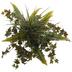 Green Mixed Grass & Bath Fern Topper