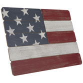 Distressed American Flag Wood Decor