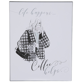 Life Happens Coffee Helps Wood Wall Decor