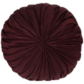 Round Velvet Cushion Pillow