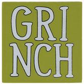 Grinch Striped Wood Decor