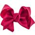 Maroon Grosgrain Bow Hair Clip