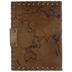 Brown Global Map Leather Sketchbook