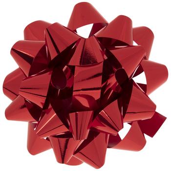 "Metallic Red Bow - 8"""