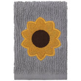 Gray & Yellow Sunflower Scrubsy