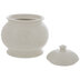 Antique White Round Canister