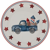 Blue Truck & Fireworks Plate