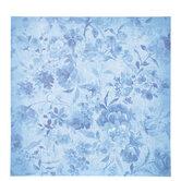 "Blue Floral Scrapbook Paper - 12"" x 12"""
