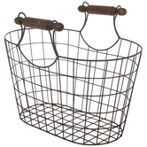 Rustic Oval Mesh Metal Basket
