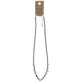 Black Disc Necklace