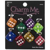 Multi-Color Dice Charms