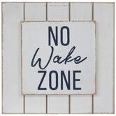 No Wake Zone Wood Decor