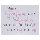 Butterfly Kiss & Ladybug Hug Canvas Wall Decor