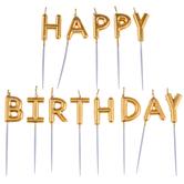 Gold Happy Birthday Candle Picks