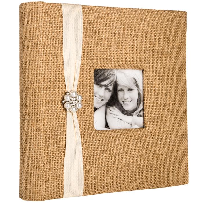 Burlap Photo Album With Jewel Ribbon Large Hobby Lobby 80756855