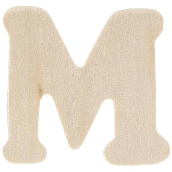 "Wood Letters M - 1 3/4"""