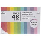 Bright Adhesive Cardstock Paper Pack