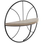 Basketball Metal Wall Shelf