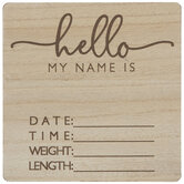 Hello My Name Is Wood Wall Decor