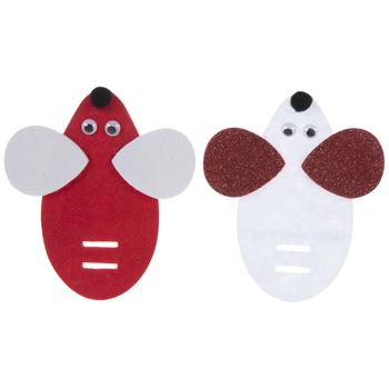 Mouse Candy Cane Holder Felt Craft Kit