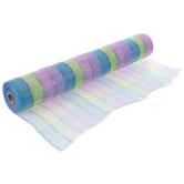 "Pastel Striped Deco Mesh Ribbon - 21"""