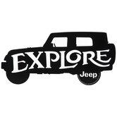 Explore Jeep Metal Sign