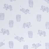 Watercolor Elephants Cotton Calico Fabric