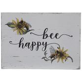 Bee Happy Wood Decor