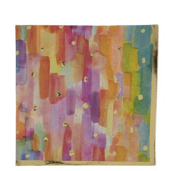 Watercolor & Foil Napkins - Large