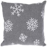 Gray Heather Snowflake Pillow