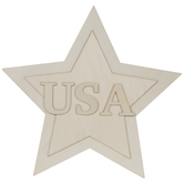 USA Star Wood Wall Decor