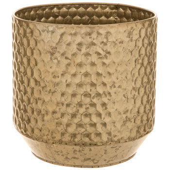 Honeycomb Metal Flower Pot - Small