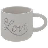 White & Gray Love Mug
