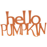 Hello Pumpkin Metal Wall Decor