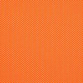 Tangerine & White Mini Dot Cotton Calico Fabric