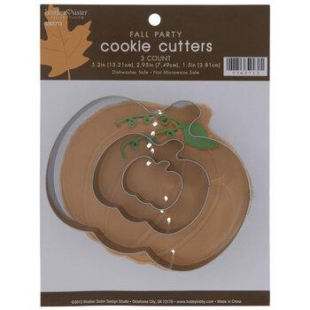 Silver Pumpkin Metal Cookie Cutters