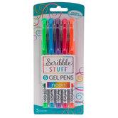 Neon Gel Pens - 5 Piece Set